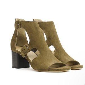 Rag & Bone Matteo Suede Olive Block Heel Sandals